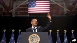 奥巴马总统1月29日在拉斯维加斯一所中学发表关于移民法改革讲话
