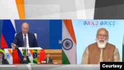 အိႏၵိယ ၀န္ႀကီးခ်ဳပ္ Narendra Modi က ၁၂ ႀကိမ္ေျမာက္ BRICS ထိပ္သီး ညီလာခံမွာ ေျပာၾကား
