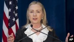 Ngoại trưởng Hoa Kỳ Hillary Rodham Clinton.