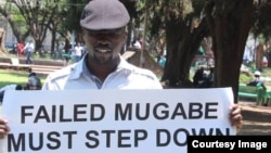 Abducted political activist Itai Dzamara captured at the Africa Unity Square in Harare where he was staging peaceful protests urging President Mugabe to step down.