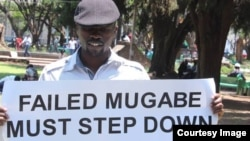 Abducted political activist Itai Dzamara seen in Harare recently at the Africa Unity Square.