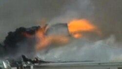 Самолет ВМС США упал на жилой квартал
