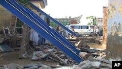نوشہرہ میں سیلاب سے متاثر ہونے والا ایک گھر