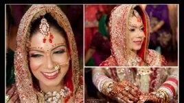 Bức ảnh cô dâu người Ấn chị chụp trong đám cưới Ấn mà chị có dịp tham dự ở Singapore