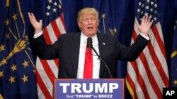 Ứng cử viên tổng thống của đảng Cộng hòa Donald Trump trong cuộc vận động ở South Bend, bang Indiana, Mỹ, ngày 2/5/2016.