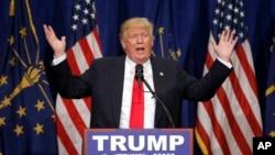 Le candidat républicain à la Maison Blanche Donald Trump