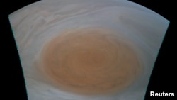 The Great Red Spot on Jupiter is shown in this NASA Juno spacecraft photo released on July 12, 2017.