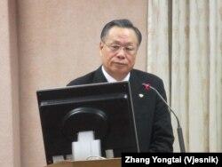 台湾国防部长严明(美国之音张永泰拍摄)