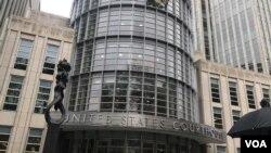 """Corte Federal del distrito este de Brooklyn, en Nueva York, donde se llevará a cabo el juicio de """"El Chapo"""" Guzmán."""