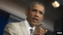 ປະທານາທິບໍດີ Barack Obama ກ່າວວ່າ ການຈັບກຸມຢູ່ຊາຍ ແດນສະຫະລັດ ຕິດກັບເມັກຊິໂກ ໄດ້ຫລຸດໜ້ອຍລົງ