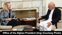 خانم ویلز در اوایل ماه گذشته میلادی با محمد اشرف غنی، رئیس جمهور افغانستان در کابل دیدار کرد.