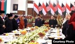 Presiden Afghanistan Ashraf Ghani menjamu makan siang Presiden Joko Widodo di kabul Afghanistan Senin 29 Januari 2018. (Foto courtesy: Biro Pers Istana).