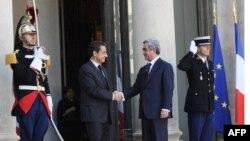 Հայաստանի նախագահ Սարգսյանը հանդիպում է ունեցել Ֆրանսիայի նախագահ Սարկոզիի հետ