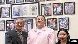Tiến sĩ Nguyễn Nhã, Cô Ngọc Giao và ông Joe Ruzicka, Trợ lý lập pháp của Thượng nghị sĩ Hoa Kỳ John McCain