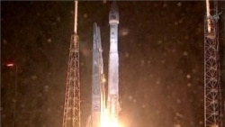 Video of launch of twin satellites