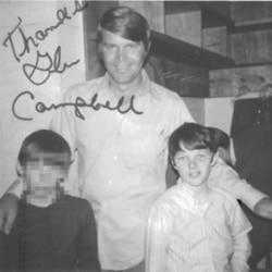 Glen Campbell and 8-year-old Christopher Cruise