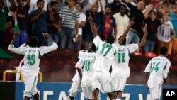 Les jeunes nigérians, champions du monde cadets 2013