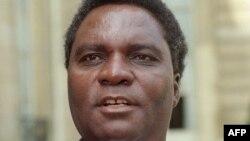 Le défunt président rwandais Juvenal Habyarimana, lors de son voyage officiel à Paris, le 23 avril 1991.