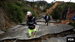 Las precipitaciones en la capital, La Paz, provocaron el deslizamiento de lodo y la destrucción de unas 250 viviendas de los barrios más deprimidos.