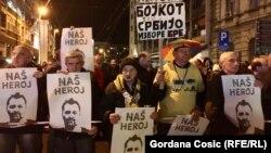 "Serbia -- Protest ""Jedan od pet miliona"" u Beogradu, 21. decembra 2019. (Foto: Dušan Komarčević, RSE)"