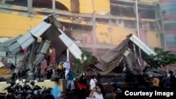 印尼帕盧市一家商場在地震中倒塌