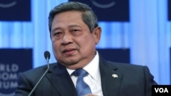 Presiden Susilo Bambang Yudhoyono menyambut baik berita tertangkapnya bendahara Partai Demokrat yang buron, Nazaruddin di Kolombia.