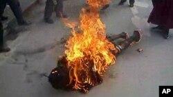 藏人自焚现场(资料照片)