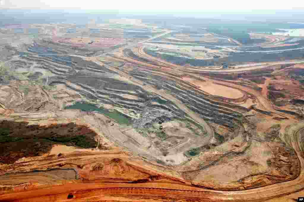 埃奎诺克斯矿业公司在赞比亚卢姆瓦纳一座铜矿的鸟瞰图。中国五矿集团曾表示要收购埃奎诺克斯。