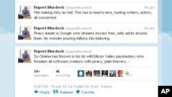 默多克在推特上批评白宫和谷歌