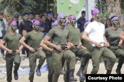 Resimen Mahasiswa Satuan 13 Instiper Yogyakarta dalam salah satu kegiatannya. (Foto: Menwa Instiper)