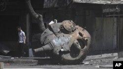 Башня бывшего танка