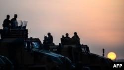 Ảnh tư liệu binh sĩ Thổ Nhĩ Kỳ tại thị trấn Suruç thuộc tỉnh Sanliurfa, gần biên giới với Syria, ngày 3/10/2014.