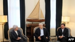 Premijerka Hrvatske Jadranka Kosor, predsednik Srbije Boris Tadić i premijer Slovenije Borut Pahor na sastanku kod Smedereva