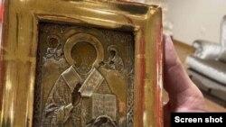 Ikona je navodno stara 300 godina i potiče sa područja Luganska, odmetnutog dijela Ukrajine