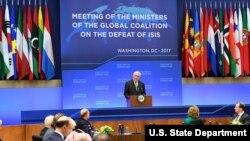 Ngoại trưởng Tillerson phát biểu khai mạc Hội nghị Liên minh Toàn cầu Đánh bại ISIS tại thủ đô Washington, 22/3/2017