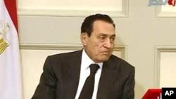 ປະທານາທິບໍດີ Hosni Mubarak ແຫ່ງອີຈິບ ວັນທີ 31 ມັງກອນ 2011