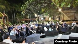 Sekitar 50 agamawan dan budayawan melakukan dialog akhir tahun di Jakarta, Sabtu (29/12).