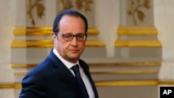 ປະທານາທິບໍດີຝຣັ່ງ ທ່ານ Francois Hollande.