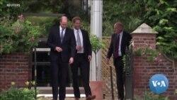 Feuding British Princes William And Harry Unveil Diana Statue