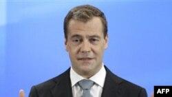 Ruski predsednik Dmitri Medvedev na skupu novinara u Skolkovu, nadomak Moskve