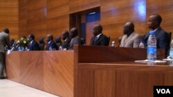 The Extraordinary Chamber's newly appointed 10 Senegalese judges and four magistrates were announced at the official inauguration in Dakar, Senegal, February. 8, 2013. (J. Lazuta/VOA)