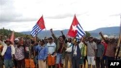 Những người ủng hộ phong trào đòi ly khai trong tỉnh Papua, Indonesia