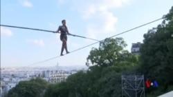 法國35米高空走鋼絲表演