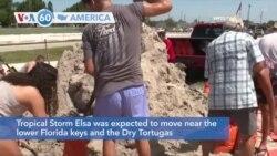 VOA60 America - Tropical Storm Elsa Takes Aim at Florida