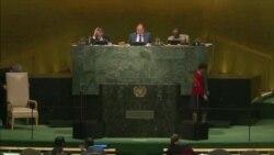 Michel Kafando s'exprimant devant les Nations Unies