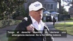 Trump reitera que podría declarar emergencia nacional