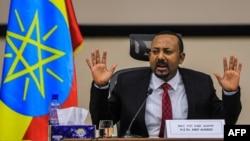 Abiy Ahmed, primeiro-ministro da Etíope, Addis Abeba, 30 Novembro 2020
