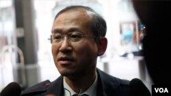 Utusan Korea Selatan Lim Sung-nam di New York (7/3).