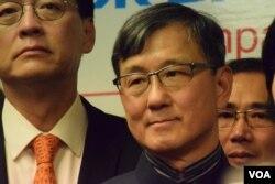 香港工業界選委沈運龍。(美國之音湯惠芸攝)