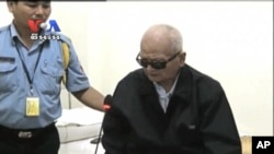 Nuon Chea, Brother No 2 of Khmer Rouge, expressed remorse at ECCC over what had happened in his regime, May 30, 2013.